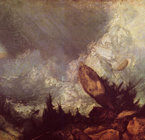 Joseph Mallord William Turner, The Fall of an Avalanche in the Grisons